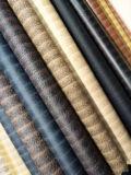 Het klassieke Woodgrain Leer van het Patroon Pu voor Schoen (HTS044)