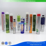 Crema de Cuidado de la piel de la mano empaquetado cosmético abierta la boquilla de aluminio plegable Tubos
