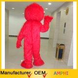 Costume lungo della mascotte di Elmo della mascotte del Sesame Street della peluche