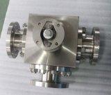 Válvula de esfera de aço forjada da maneira do aço inoxidável três