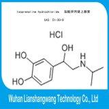 Pó CAS 51-30-9 do API do hidrocloro do Isoprenaline para tratar doenças respiratórias