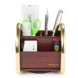 Organizador Desktop Multi-Function de madeira móvel do armazenamento para o escritório com chassi