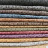 Couro tecido macio e durável elegante para as sapatas das bolsas (FS702)