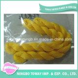Linha Sewing do bordado do algodão de matéria têxtil do amarelo da linha do Crochet para o bracelete