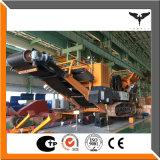 Hohe Produktions-Leistungsfähigkeits-bewegliche aufgespürte Zerkleinerungsmaschine-Pflanze