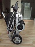Peso leve que dobra a cadeira de rodas elétrica da movimentação de 4 rodas