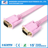 Varón del Hq 15p al cable plano masculino del VGA