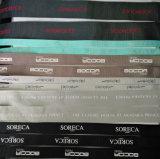 Kundenspezifisches Firmenzeichen-Polyester-Großhandelsdoppeltes versah Satin-Farbband durch das Yard mit Seiten