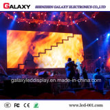 Visualización de pantalla video de interior de la pared del alquiler LED P2.98/P3.91/P4.81/P5.95