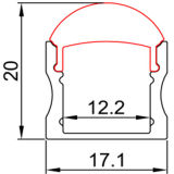 4201 Suface che monta la striscia flessibile poco costosa dell'indicatore luminoso di striscia del LED LED