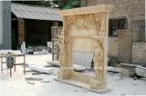 Cornija de lareira de mármore dobro da chaminé para a decoração interna (SY-MF303)