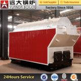 Dzh4-1.25-T 4ton/Hrのプラスチック企業または工場のための石炭によって発射される蒸気ボイラ