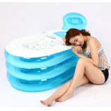 Familien-blaue Innenfarbe Belüftung-aufblasbare Badewanne für Erwachsenen
