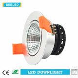 La MAZORCA Downlight 7W de Dimmable LED refresca la plata de aluminio blanca de la arena