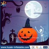 Halloween, das Feiertags-Partei-fördernde Kampagnen-aufblasbares Modell, aufblasbaren Kürbis bekanntmacht