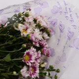 Papel de embalaje de la flor/de regalo de OPP con el modelo del amor