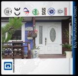 Handfertigkeit-Mutter-und Sohn-Fiberglas-moderne Haustür mit 2 volles Sidelites