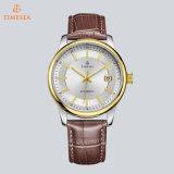 Relógio resistente 72204 de choque impermeável dourado luxuoso do aço inoxidável do relógio dos homens mecânicos do negócio