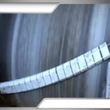 raspador de cerámica de la superficie de la banda transportadora de la anchura de la correa de 1200m m