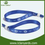 Изготовленный на заказ Wristband полиэфира печатание ткани Holidys нот Sweatband