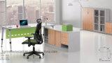 Muebles de oficinas modernos de madera del escritorio de oficina ejecutiva de la pierna del metal (HF-BSA05)