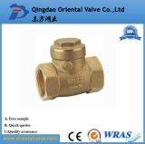 Válvula de verificación de cobre amarillo del resorte de la alta calidad del precio de fábrica Dn80 con la base de cobre amarillo