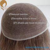自然な見る漂白剤は人のためのフランスのレースの毛のToupeeを結ぶ