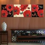 Handmade 고품질 색칠 꽃 화포 예술 벽 유화