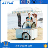 アイスクリームのカートの容易な押し