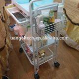 3 couches avec le chariot mobile à salon de beauté de panier