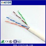 Fabricante de cobre del cable de China del cable de LAN de la prueba UTP CAT6 de la platija