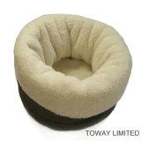 질 애완 동물 제품 연약한 개 슬리핑백 산호 우단 개 침대