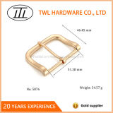 Light Gold Color Zinc Heel Bar Buckle