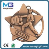 Medaglia personalizzata del Taekwondo 3D del metallo con rame antico rifinito