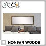 Rustikaler dunkler Brown-Wohnzimmer-Fußboden-in voller Länge Spiegel-Rahmen