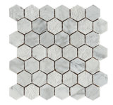 Hexagon-Marmor-Mosaik-Fliese China-Factoty Carrara weiße (FYSC368)
