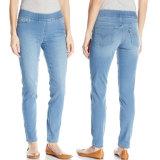 2017 calças de brim magros da forma do algodão das calças de brim por atacado das senhoras