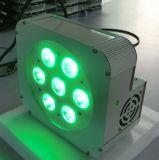Rádio barato de 7X15W Rgbaw 5in1 acima das luzes da PARIDADE do diodo emissor de luz