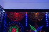 CE y RoHS aprobados LED al aire libre luces de la cortina través de la calle