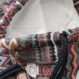 Bolso de lazo étnico de Gymsack de la lona del algodón de la manera de las mujeres