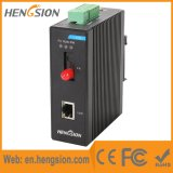 Controlado 1 Ethernet rápido 1 interruptor industrial da rede Ethernet da fibra