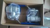 Fabrik-guter Preis-China-zweiteiliger Kugelventil-Edelstahl mit Stellzylinder