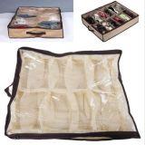 침대 옷장 직물 부대 상자의 밑에 홀더 입구 조직자 12 쌍 단화 저장