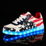 Bset die Nationale LEIDENE van het Patroon van de Vlag Lichte Loopschoenen voor de Volwassen Schoen van de Sport verkopen