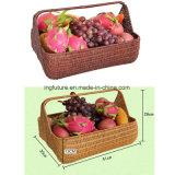 Heißer Verkaufs-Bildschirmanzeige-Frucht-Nahrung-PET Rattan-Korb
