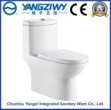 Toilette en céramique monopièce de ménage avec le double trou Siphone (YZ1826)