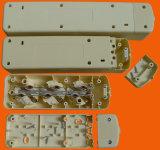Tomada e interruptor de extensão de extensão de 5 vias europeus com aterramento (E9005ES)
