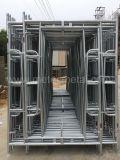 Прогулка горячего DIP (HDG) гальванизированная через ремонтину рамки