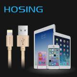 De gevlechte Nylon Kabel van de Lader USB van de Gegevens van Aluminium snelst 1m voor iPhone 7 7plus