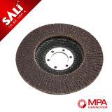 Disco abrasivo de la solapa del alúmina con el forro de la fibra de vidrio para el polaco del metal